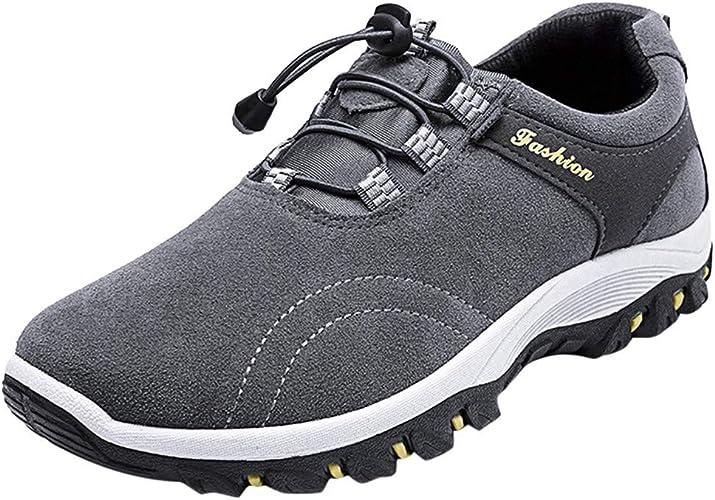SuperSU-Sneaker - Zapatillas de piel para hombre, resistentes al desgaste, cálidas, para escalada, para hombre, antideslizantes, para exteriores, tallas grandes, para hacer senderismo, color Beige, talla 43 EU: Amazon.es: Zapatos y complementos
