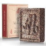 Chinese Tea Puerh - Ripe Pu-erh Tea Brick No.19 - Yunnan Post Fermented Tea Pu erh - Black Loose Leaf Shu Puerh Tea - Natural Tea for Weight Loss with Caffeine – Puer Tea Cake 100 gram/3,6 ounce