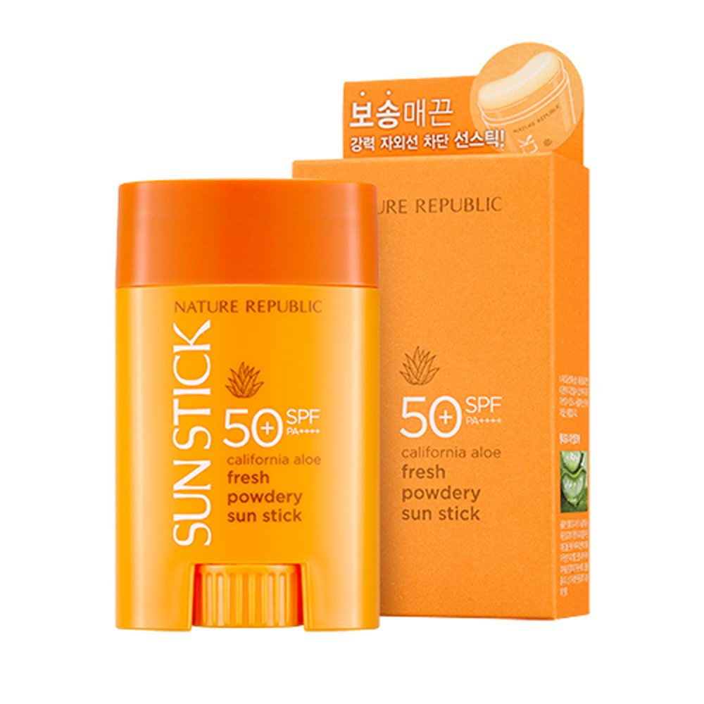 Nature Republic California Aloe Fresh Powdery Sun Stick SPF50+ PA++++ 22g / 0.77 oz.