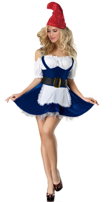 VOVONI LTD Gnome Halloween Costume , Adult Fancy Sexy Garden