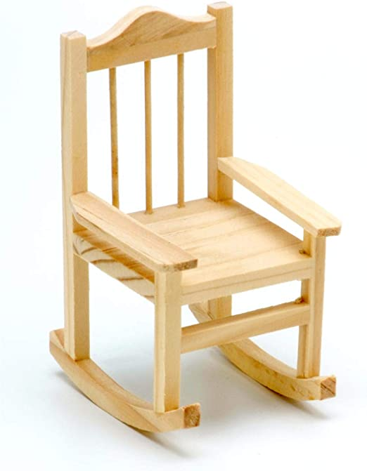 Darice 9190-305 Unfinished Wood Rocking Chair