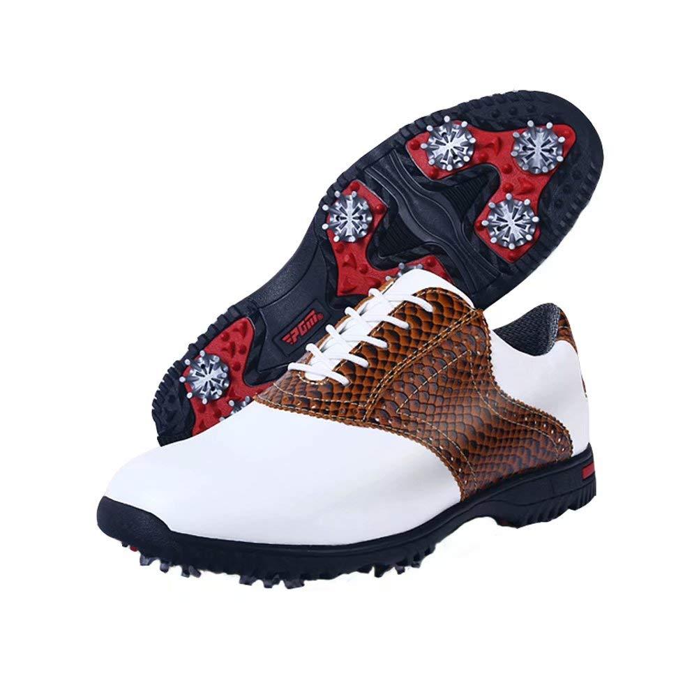 [Kayiyasu] ゴルフシューズ メンズ スポーツシューズ スパイク カジュアル ランニングシューズ ノンスリップ 26.0 cm ブラウン B07TGT36Q5