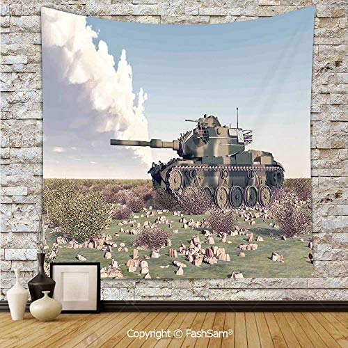 - Tapestry Wall Hanging American Camouflage Tank of The Cold War Historical Facts Battle Art Picture Tapestries Dorm Living Room Bedroom(W39xL59)