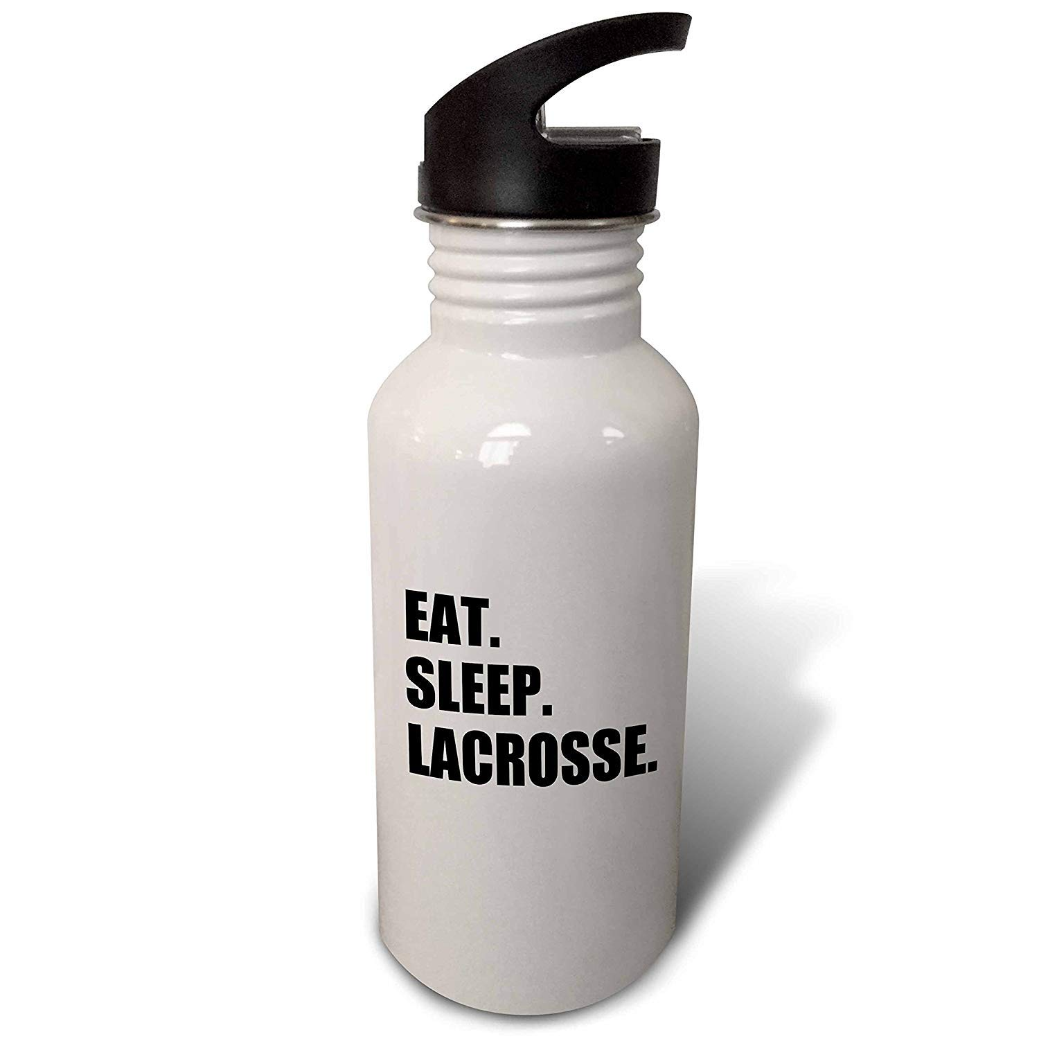 Yohoba Inspirationzstore Eat Sleep Series Eat Sleep Lacrosse Stainless Steel Sport Water Bottle White 20 Ounces