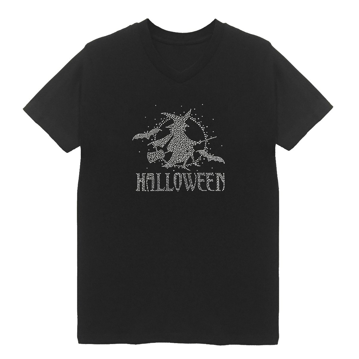 HappymomShirts Halloween Women's V Neck T-Shirt Plus Size Unisex