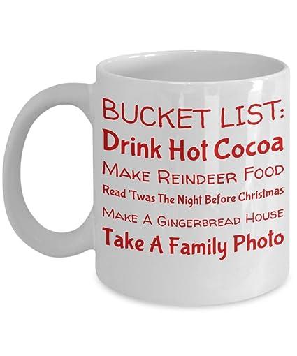 Amazoncom Christmas Bucket List Mug With Funny Saying Xmas Gift