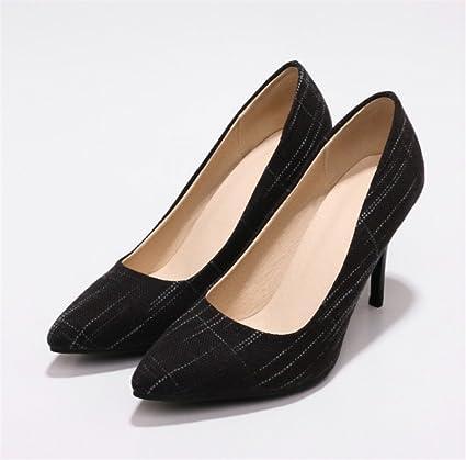 8ec58a5fff9 Amazon.com: LUCKY CLOVER-CC Stiletto Heels,Fabrics Sandals High ...