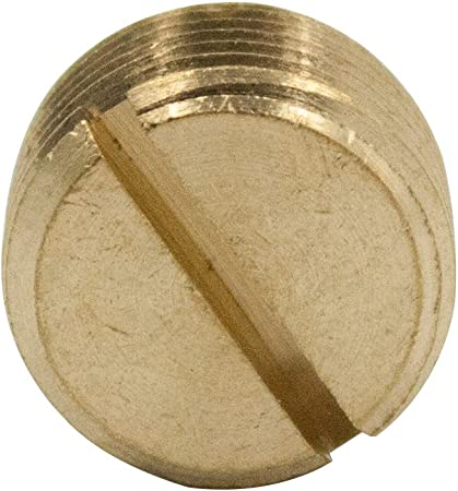 Brass Pipe Fitting 3//8 NPT Male 5pcs Slotted Pipe Plug