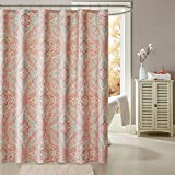 Grace Printed Shower Curtain Coral 72x72