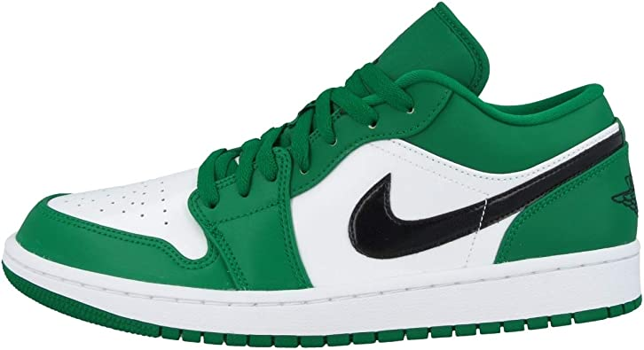 Nike Kids Grade School Air Jordan 1 Low Pine Green Basketball Shoe