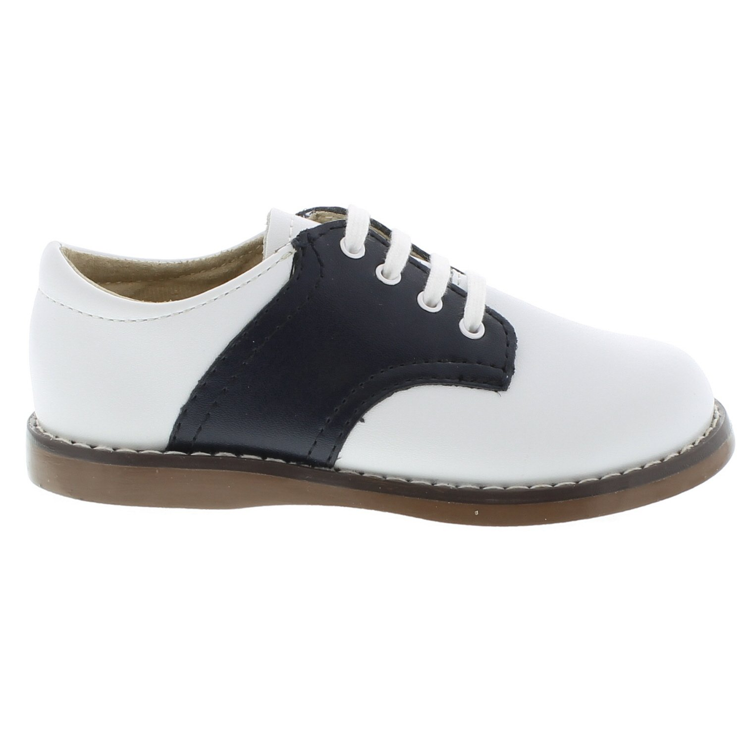 FOOTMATES Cheer Laceup Saddle White/Navy - 8401/13 Little Kid M/W by FOOTMATES (Image #2)