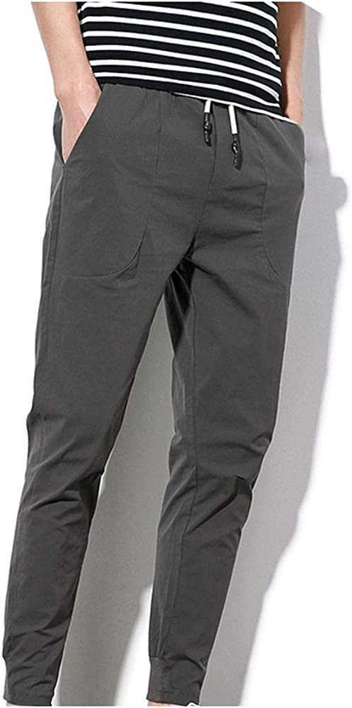 Theoutgoing - Pantalones de chándal para Hombre con Cintura ...