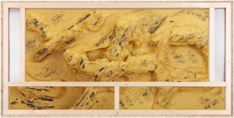 Terrario: madera Terrario para Reptiles frontal ventilación para ...