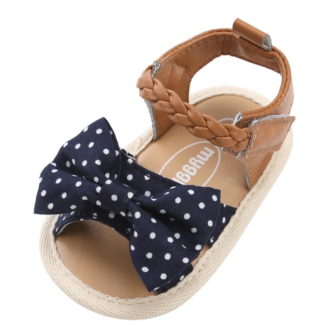 Sandalias niñas Xinantime Zapatos bebés de Verano para niñas Chica Sandalias con cinturón Tejido bebé Sneaker Zapatillas Planas Bowknot Zapatos Princesa Calzado Azul real) Xinxinshidai