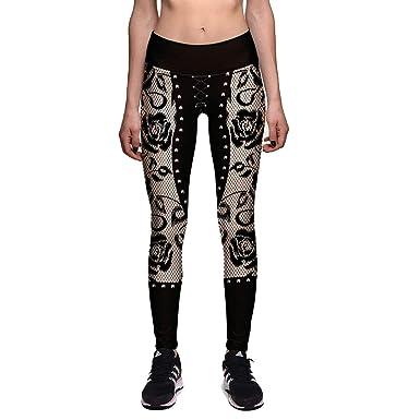 Saoye Fashion Mujeres Hombres Moda Pantalones De Yoga ...
