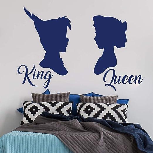 hllhpc Gran Peter Pan Wendy King Queen Tatuajes de Pared Cabecera ...