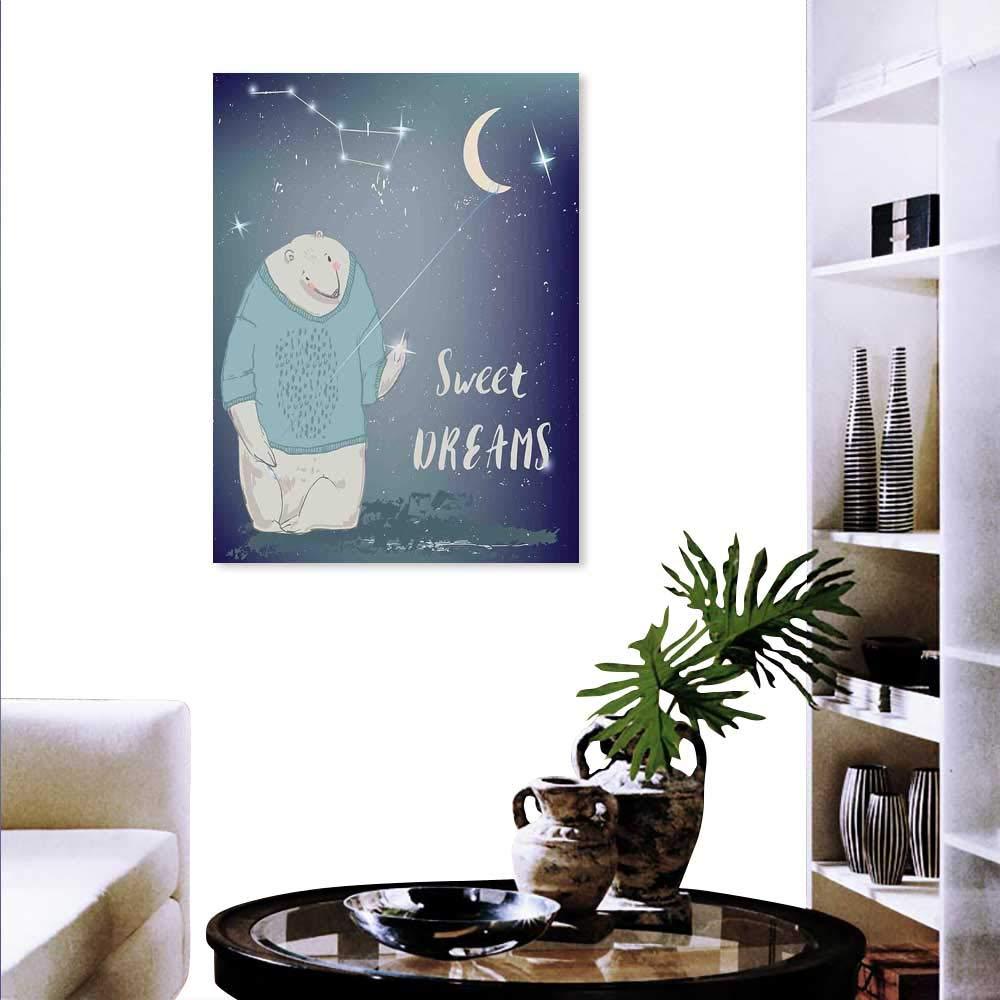 Anyangeight キッズモダンキャンバス絵画ウォールアートフクロウ 女性男性服 ハートフラワー ハッピープレイルーム 子供のプリント アートワーク 壁装飾 マルチカラー 24