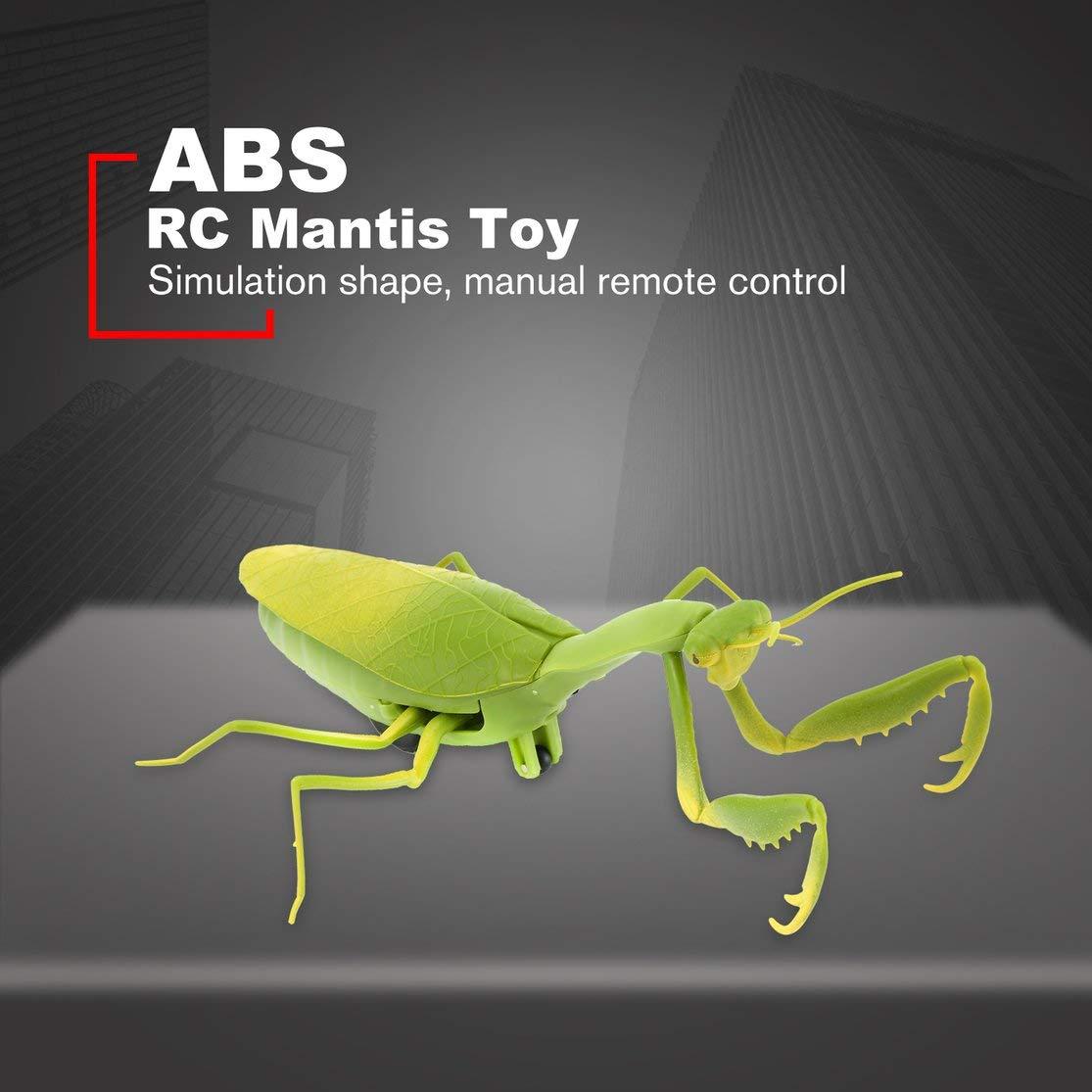 Kaemma Elektrische Infrarot Fernbedienung Simulieren Mantis Form Streich Spielzeug Realistische Mini RC Mantis Insekt Scary Trick Kinder Spielzeug Gr/ün