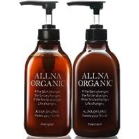"""ALLNA ORGANIC 无添加 无硅油 氨基酸 洗发水&冲洗护发素  洗发水套装 """"植物提取物23种""""""""胶原蛋白透明质酸维生素C衍生物神经酰胺""""配合 500毫升&500毫升  套装"""