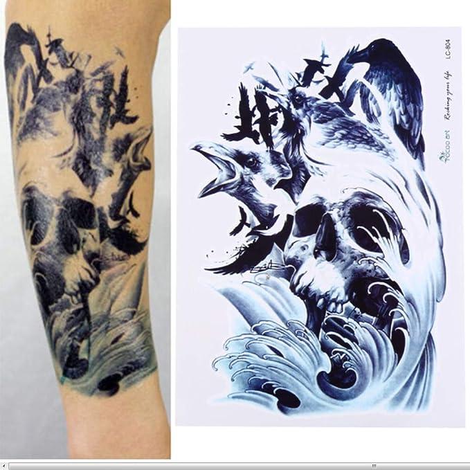 Etiqueta engomada temporal impermeable del tatuaje del mapa del ...