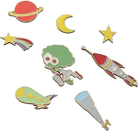 Set De Pin Esmaltado ( 8 Unidades) star moon