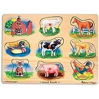 Melissa & Doug 10268 Ahşap Sesli Yapboz Çiftlik Hayvanları