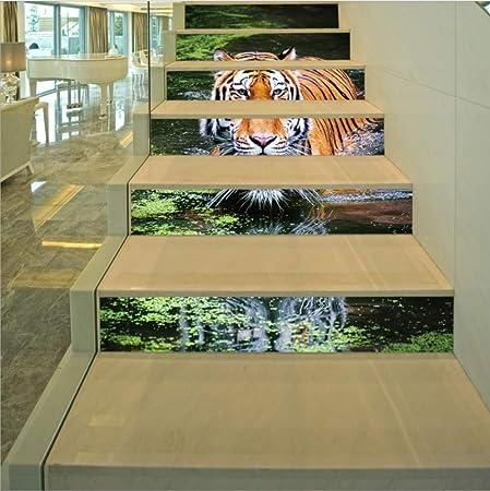 HAIMACX Sala De Estar Decoración Escalera Corredor Etiqueta 3D Mañana Mañana Amanecer Joven Pastor Decorativo Etiqueta De La Pared: Amazon.es: Hogar