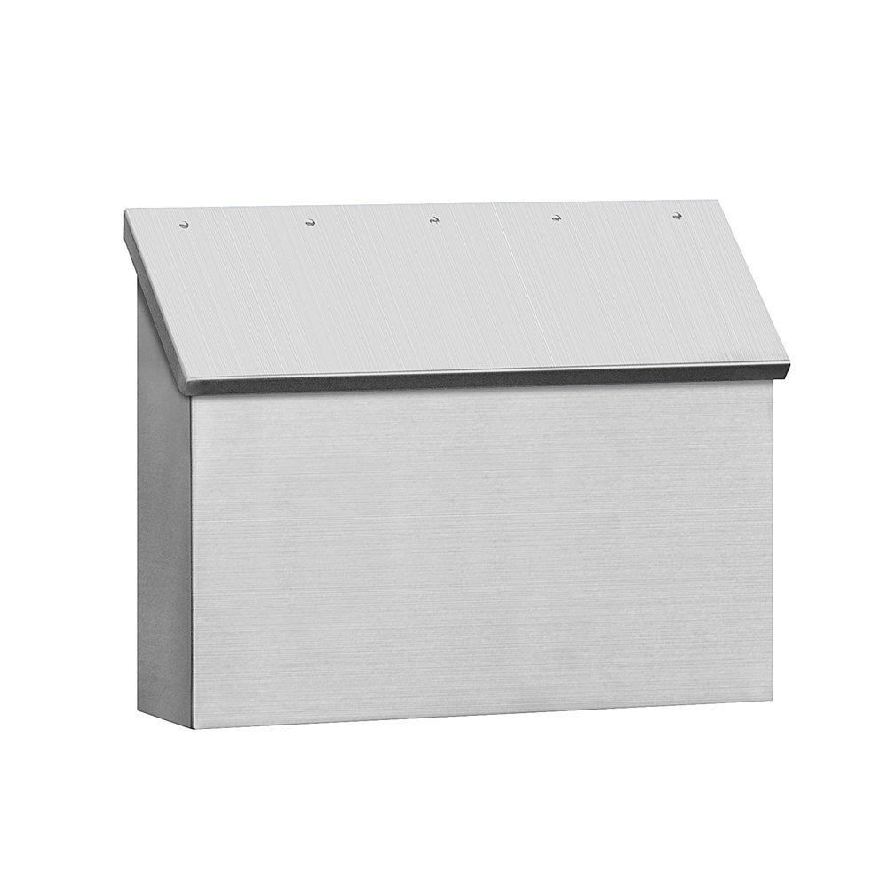 Salsbury Industries 4510  Standard Horizontal Style Mailbox, Stainless Steel