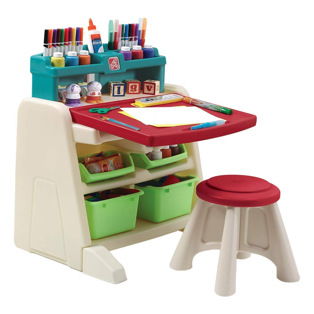 Step2  Flip and Doodle Desk with Stool Easel Renewed