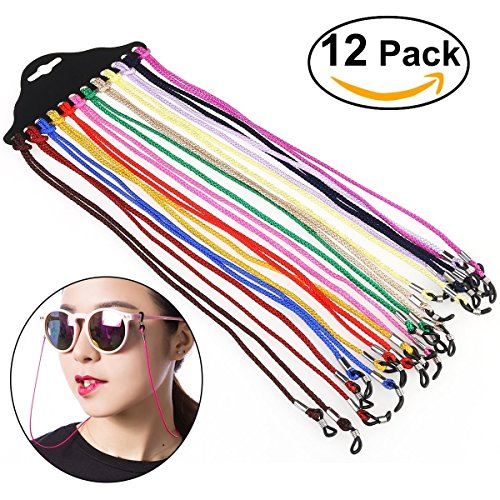 on Eyewear Cord,Eyeglass Chains Neck String 12pcs (Eyes Eyewear)