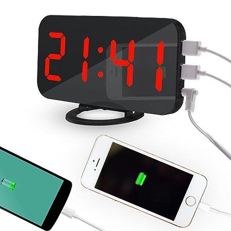 OHQ LED reloj despertador digital Snooze teléfono móvil ...