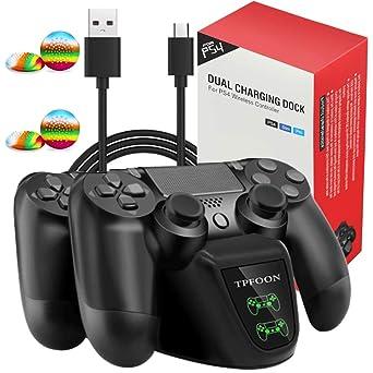 Cargador de controlador PS4, estación de carga de ...