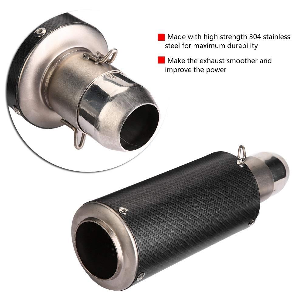 Silenciador de escape 1 PC de deslizamiento de motocicleta Universal de 51 mm en silenciador de escape tubo de escape trasero para KTM Kawasaki BMW.