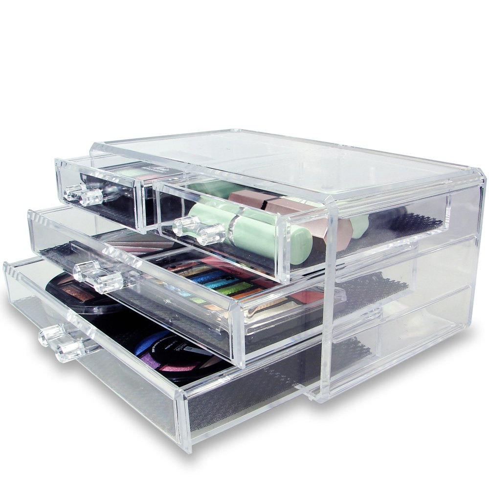 Amazoncom Ikee Design PS Material Jewelry Cosmetic Storage - Container store makeup organizer