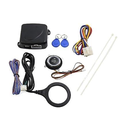 Lzcat Smart RFID Sistema de alarma de coche con botón de inicio ...