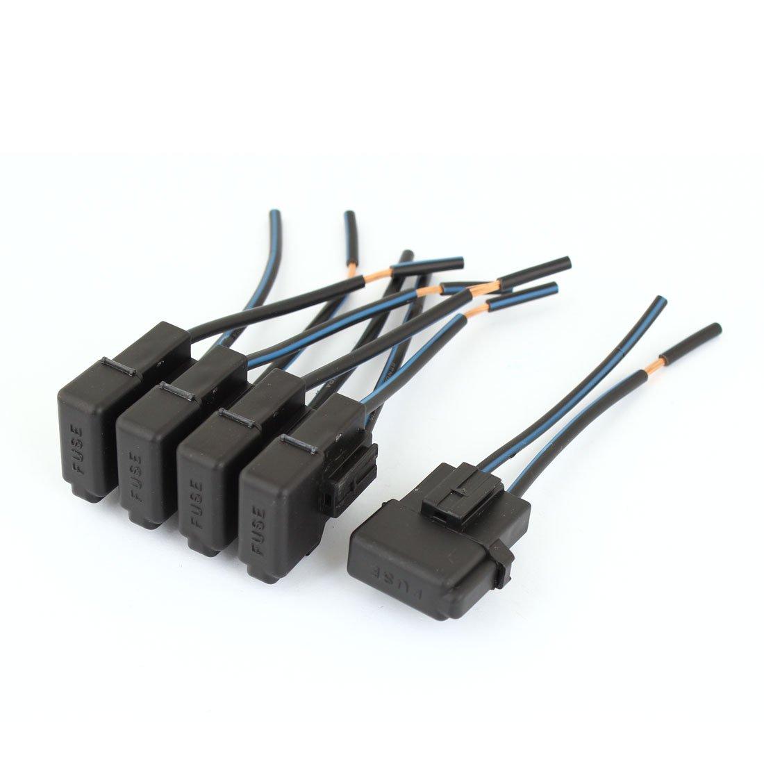 5PCS Car Automotive Audio Inline ATC Vane Inline Fuse Holder DC 12V uxcell a13051300ux0369