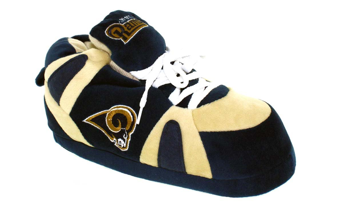 Comfy Feet Happy Feet OFFICIALLY LICENSED Mens and Womens NFL Sneaker Slippers B01N7XFQLW 2. MD - W 5.5-7.5, M 4.5-6.5|Los Angeles Rams