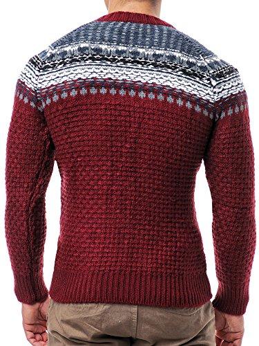 Pullover Leif Maglia In Ln4205 Con Nelson Rosso Cappuccio xwqxCTFE