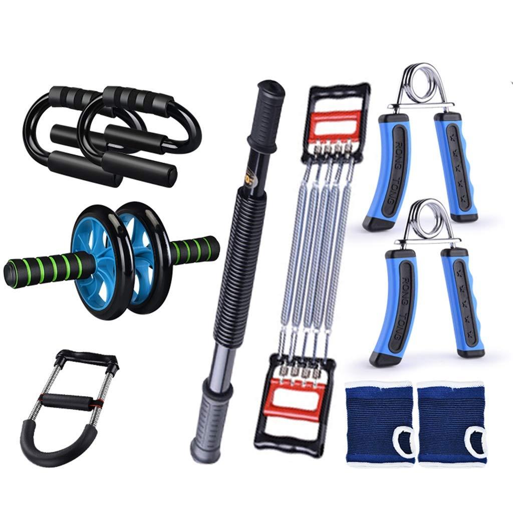 Fitnessgeräte Set, Haushalt Multifunktions Training Bauchmuskel Rad Arm Bar Puller Brust Expander Bauch Exerciser