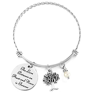 ELOI Gift For Aunt Bracelet Christmas Birthday Bangle Auntie From Nephew Niece Jewelry