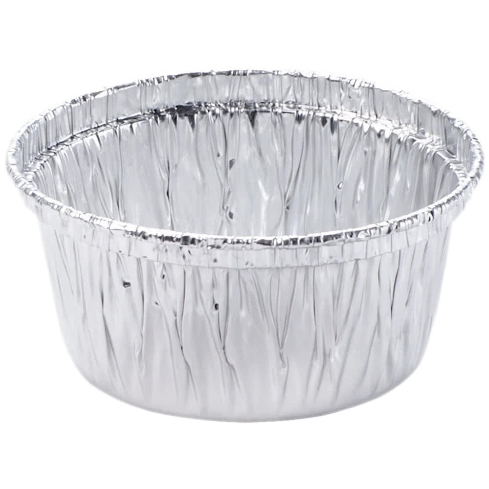 Pactiv Ramekins Muffin Cups | Durable Quality Disposable Aluminum Foil Muffin Cup, Perfect for Baking, Freezing, Broiling & Preservation - 4 oz | Pack of 100