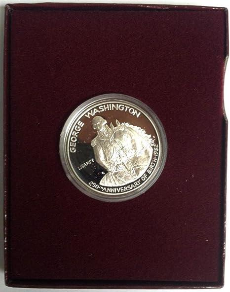 1982 Uncirculated George Washington Commemorative Silver Half Dollar with Box