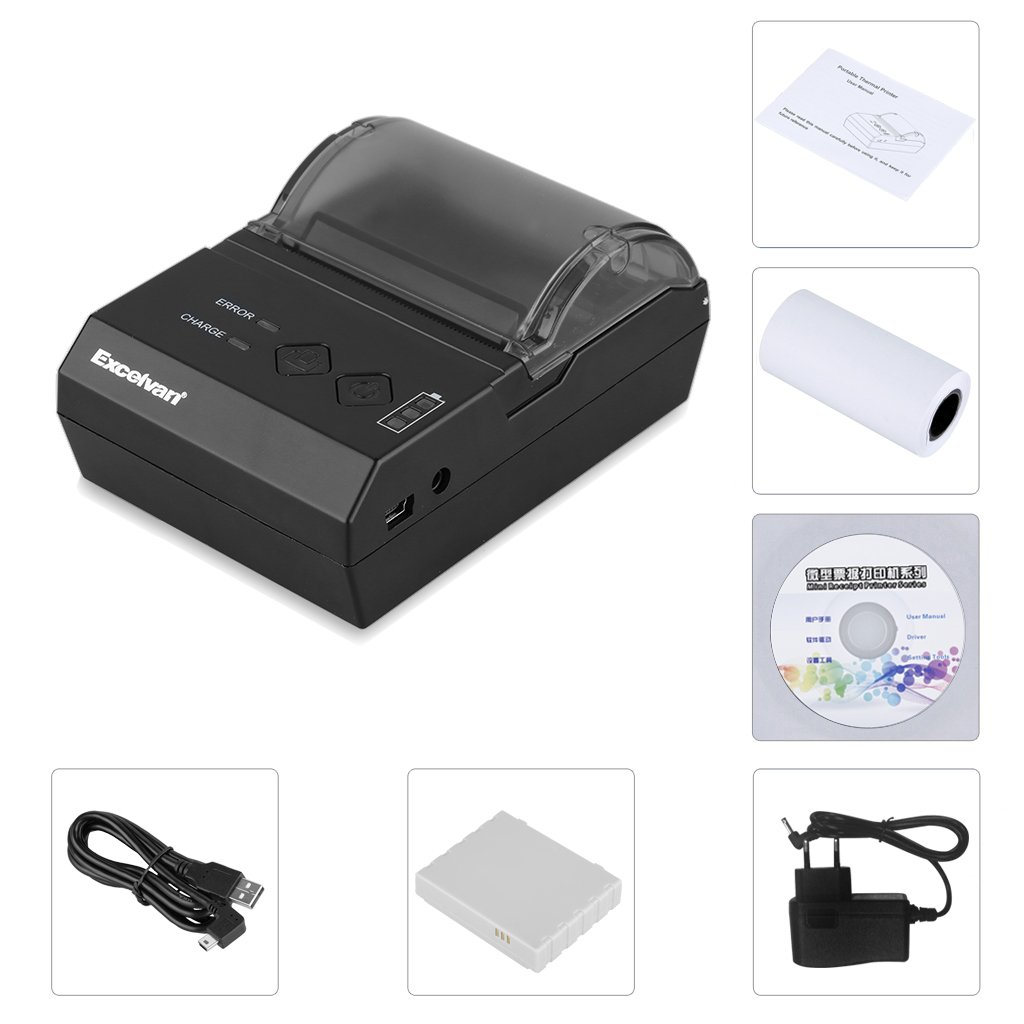 Excelvan Hop E200 - Impresora Térmica de Recibos y Billetes ...