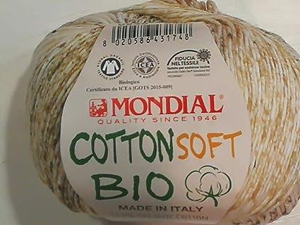 Algodón Bio Lane Mondial Cotton Soft Bio Lana Color 948 100% Algodón Orgánico, Algodón Orgánico, Lana de Bebé Bio para Punto y Ganchillo: Amazon.es: Hogar