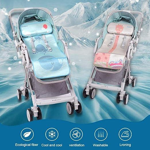 Almohadilla para asiento de cochecito de beb/é con almohada jogger y cochecito alfombrilla de refrigeraci/ón de seda de verano para asiento de coche transpirable para cochecito AOLVO silla de paseo