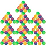 Schramm® 100er Pack Flummi Frost 27mm Flummis Springball Hüpfball Mitgebsel Tombola Kindergeburtstag