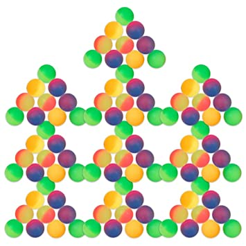 s/o Frosted Bouncy Ball 27mm PACK OF 100Balls Set Party Bag Tombola Children's Birthday (0432) RRM9ah0vtx