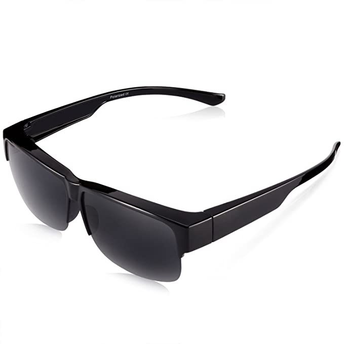 65c4156d15f Br Guras Over Glasses Sunglasses Fit over Prescription Glasses for Women    Men with Polarized