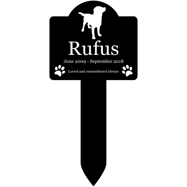 Origin Personalised Dog Memorial Plaque Stake in Black Outdoor Garden Waterproof Rottweiler