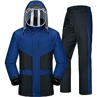 Ropa impermeable- Traje De Lluvia Para Hombres Ropa Impermeable (Chaqueta Para La Lluvia Y Pantalones De Lluvia…